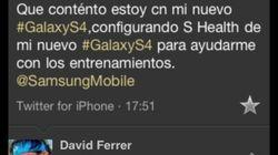 Ferrer, contento con su Samsung... desde su