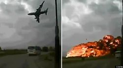 Un videoaficionado capta un accidente aéreo mortal en