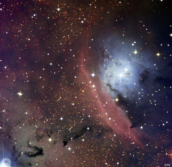 FOTO: el interior de una nube interestelar cuando se forman las