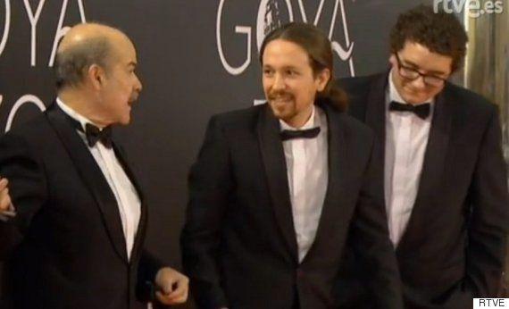 Pablo Iglesias sorprende con esmoquin y pajarita en los premios Goya 2016