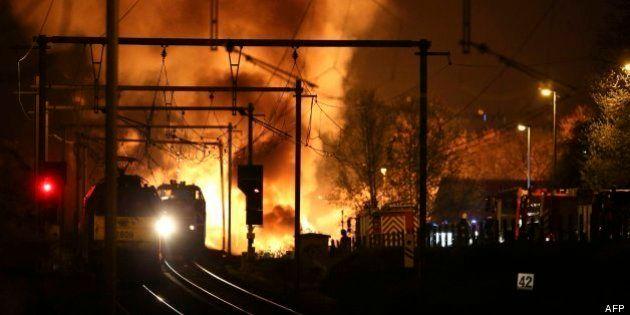 Dos muertos por una explosión tras el descarrilamiento de un tren con productos químicos en Flandes
