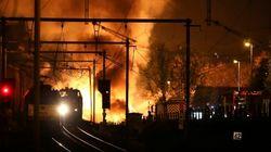 Dos muertos en Bélgica tras incendiarse un tren con químicos