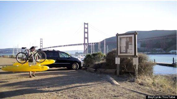 Así se cruza la bahía de San Francisco en una bicicleta