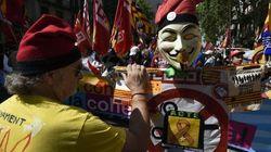 Varios detenidos en una marcha anticapitalista en