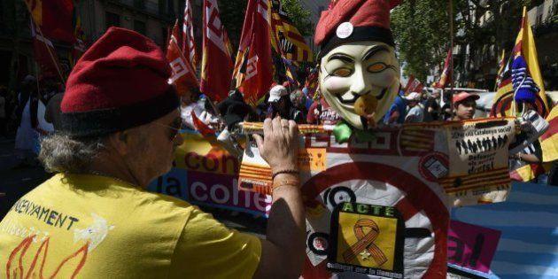 Manifestación anticapitalista en Barcelona: varios detenidos en los