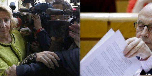 Aguirre y Montoro chocan en el Comité Ejecutivo del PP por la política fiscal del