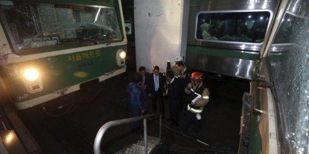 Al menos 170 heridos al chocar dos trenes en el metro de