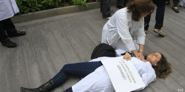 Huelga en la Sanidad madrileña contra la privatización de hospitales y los