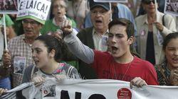 Alumnos y docentes protestan contra Wert, la Lomce y los