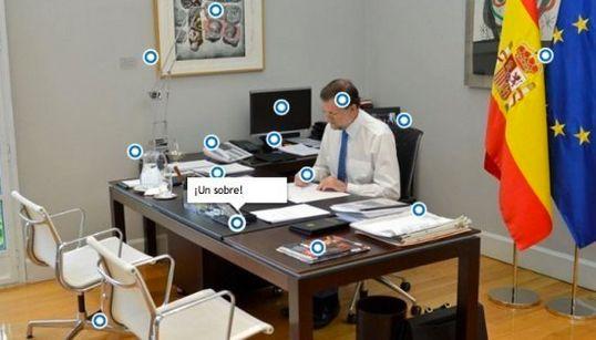 Cotillea en el despacho de Rajoy con esta foto