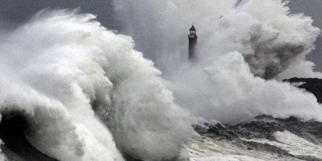 Alerta roja en el norte por olas de hasta nueve
