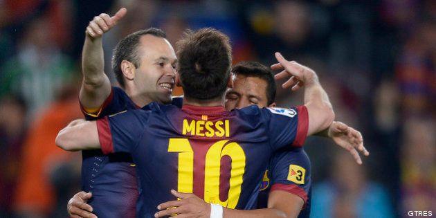 El Barcelona gana la Liga 2012-2013 tras el empate del Madrid frente al Espanyol