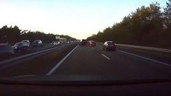 Así evita un coche Tesla un accidente antes de que se