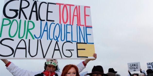 PARIS, FRANCE - DECEMBER 10: Janine Bonaggiunta, Jean-Baptiste Reddé and Eva Darlan attend at the rally...