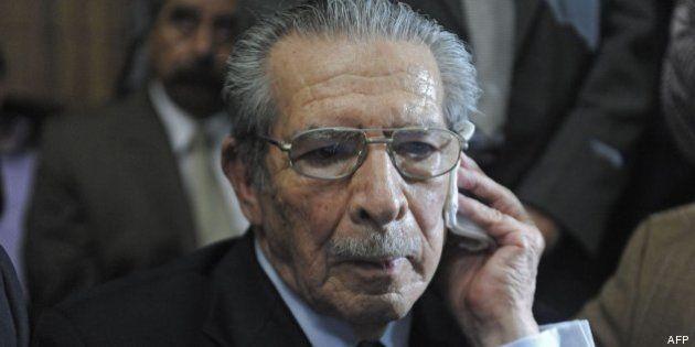 El dictador guatemalteco José Efraín Ríos Montt, condenado a 80 años de prisión por
