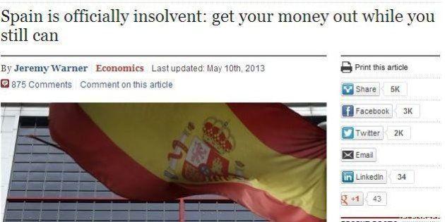 'The Telegraph' siembra la alarma sobre la situación financiera en