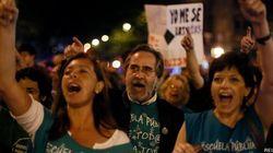 Marchas nocturnas contra la reforma educativa