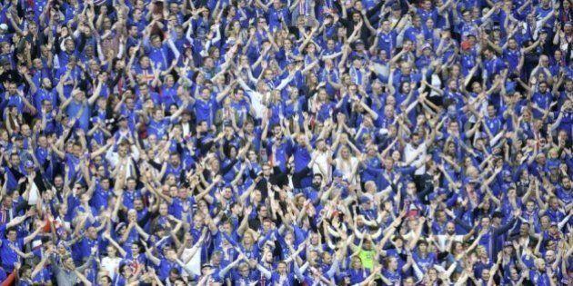 Así apoya la afición islandesa a su equipo