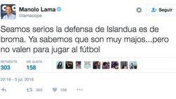 Manolo Lama cuestiona a Islandia y Twitter se le echa