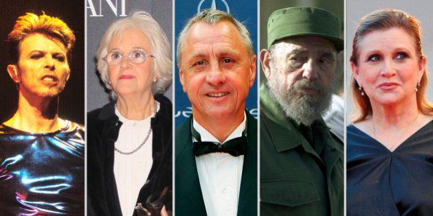 David Bowie, Chus Lampreave, Johan Cruyff, Fidel Castro... dijeron adiós en