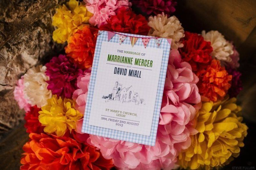 Una novia pasó ocho meses creando toda la decoración para su boda