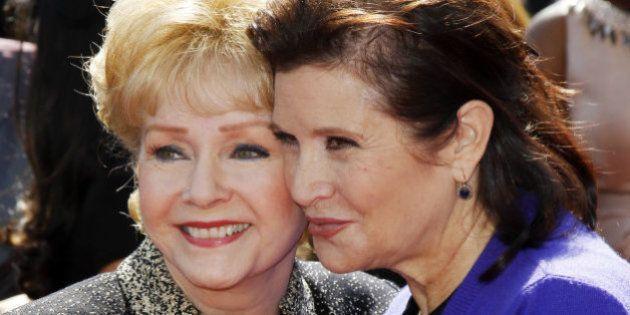 La mirada de Carrie Fisher de niña a su madre, el homenaje más emotivo a