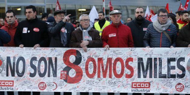 Líderes políticos y sindicales apoyan a 'los ocho de