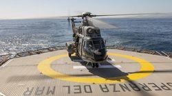 Cuatro desaparecidos al caer al mar un helicóptero del Ejército en