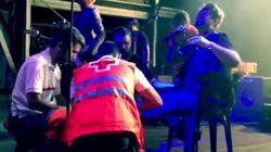 Antonio Orozco se rompe el tobillo en un concierto y sigue