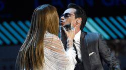 JLo y Marc Anthony, a lo Pimpinela en los Grammy Latino con beso