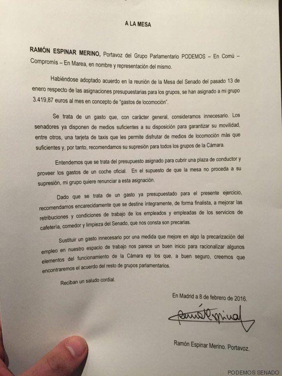 Los senadores de Podemos piden hacer esto con los 3.400 euros para