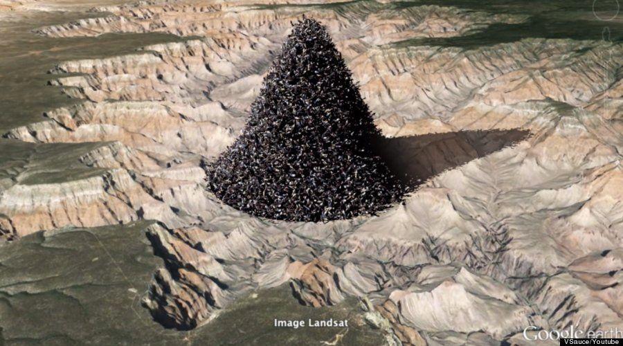¿Y si pusiéramos a toda la humanidad junta en el Gran Cañón del Colorado?