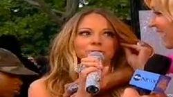 A Mariah Carey le traiciona su vestido en directo (VÍDEO,
