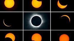 Los fotones que deja el único eclipse de Sol total de