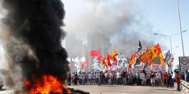 Huelga en Argentina contra el Gobierno de Cristina Fernández