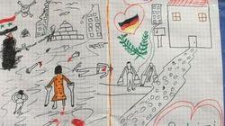 El dibujo de un niño sirio que conmueve a la policía