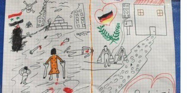 Un dibujo de un niño sirio conmueve a la policía