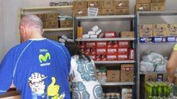 Dirigía una ONG, pero vendía los alimentos donados en su