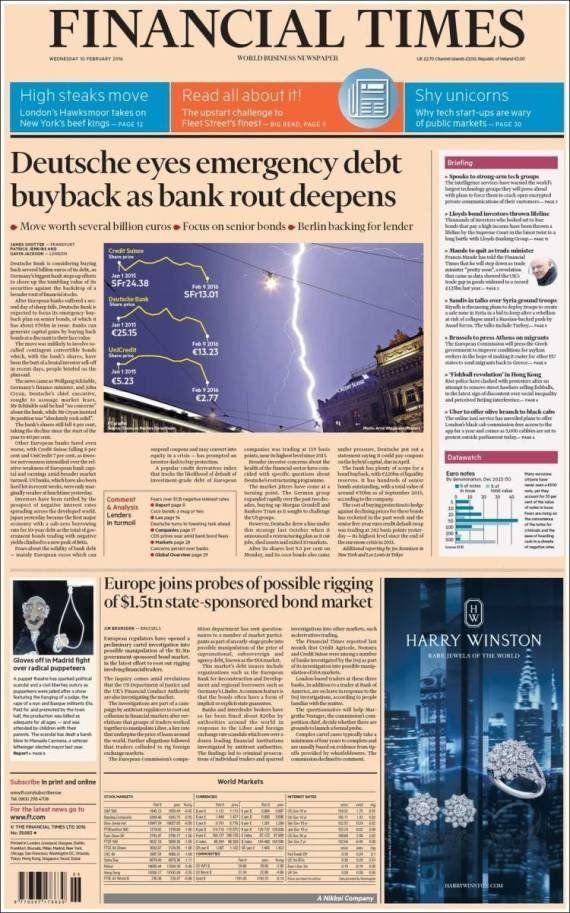 Los titiriteros llegan a la portada del 'Financial