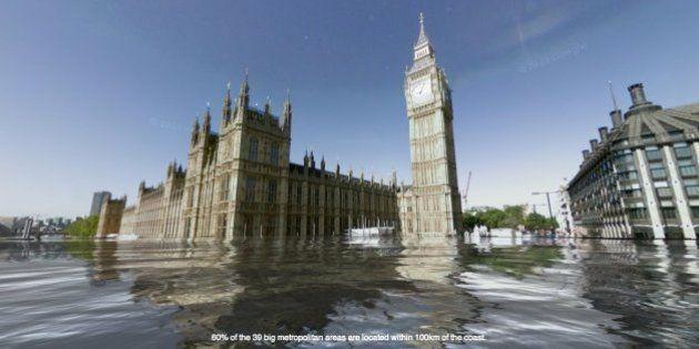 'El mundo bajo el agua': Google muestra qué podría pasar cuando el hielo se derrita