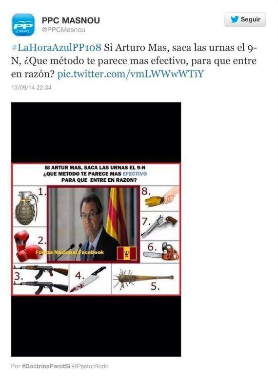 El PP de Masnou pide perdón tras alentar en Twitter a la violencia contra Artur