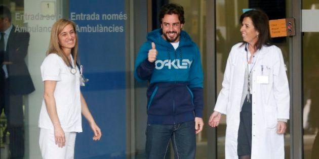 Fernando Alonso abandona el hospital tres días después de su