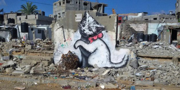 Banksy se infiltra en Gaza para apoyar a los palestinos que peor lo