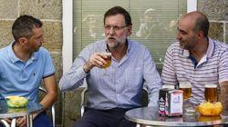 Rajoy, de cañas