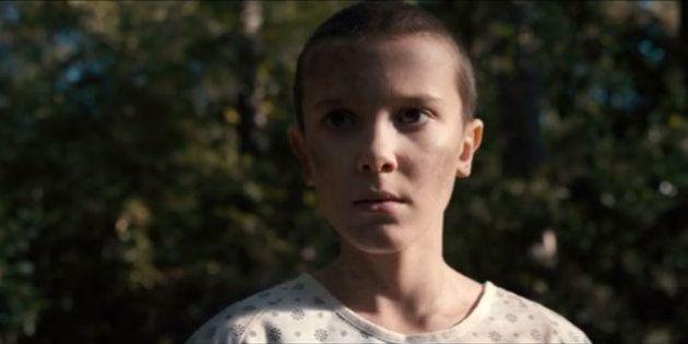 La niña de 'Stranger Things' muestra el vídeo del momento en el que le rapan la