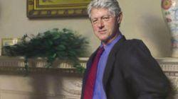 El retrato oficial de Bill Clinton incluía sombras de Mónica