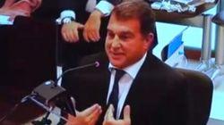 La discusión entre Mario Conde y Laporta en pleno juicio por el