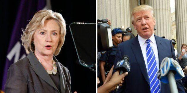 Hillary Clinton baja en las encuestas y Donald Trump sigue