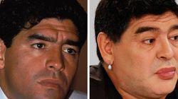 La evolución de Maradona: de su juventud al lifting