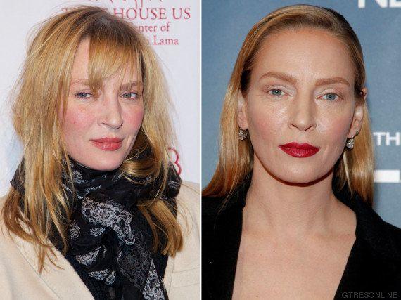 Uma Thurman sigue siendo Uma: la prueba de que su cambio de cara fue por el maquillaje